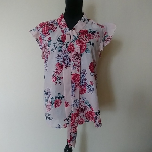 Midnight Sky Tops - Pretty Pink Floral Top